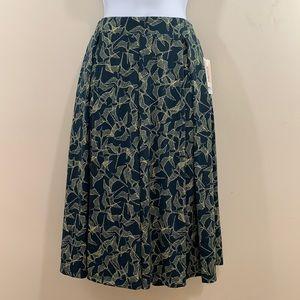 LuLaRoe Madison Bird Print Skirt  NEW  Size M